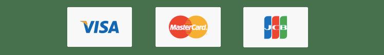 クレジットカードはVISA・Master・JCB